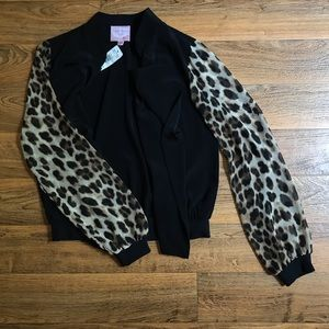 Romeo & Juliet Couture Draped Jacket Leopard NWT